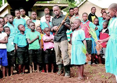 Mirembe Literacy Program - Learning to garden